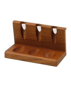 Wooden Pipe Stand for Three Pipes