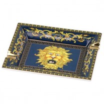 Porcelain Cigar Ashtray - Blue Lion Design