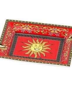 Porcelain Cigar Ashtray - Red Sun Design