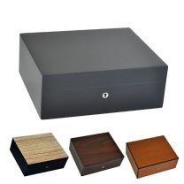 Elie Bleu Natural Wood 75 Cigar Humidor