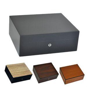 Elie Bleu Natural Wood 75 Cigar Humidor