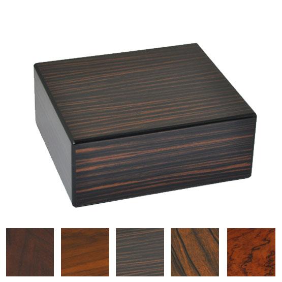 Elie Bleu Natural Wood 50 Cigar Humidor