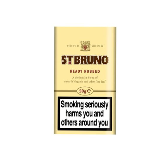 St Bruno Ready Rubbed Pipe Tobacco 50g Pouch