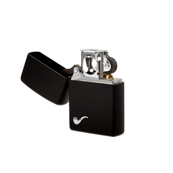 Zippo Matte Black Soft Flame Pipe Lighter