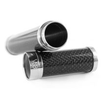 VSB Carbon Fibre Cigar Tube - Gloss Stainless Steel