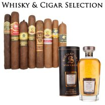 Vintage Whisky and Cigar Selection