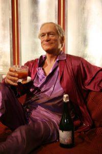 Hugh Hefner sporting a smoking jacket like those worn by Havana House customers