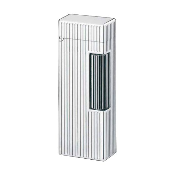 Dunhill Rollagas Lines Palladium Plated Lighter