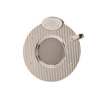 Dunhill White Spot Circular Silver Plate Lined Cigar Cutter