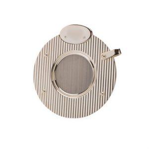 Dunhill White Spot Circular Silver Plate Lined Cigar Cutter