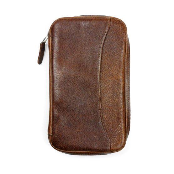 Peter James Castano Leather Cigar Aficionado Case