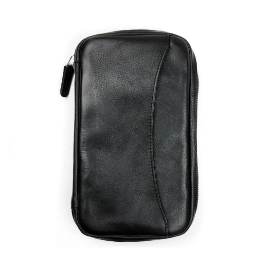 Peter James Black Leather Cigar Aficionado Case