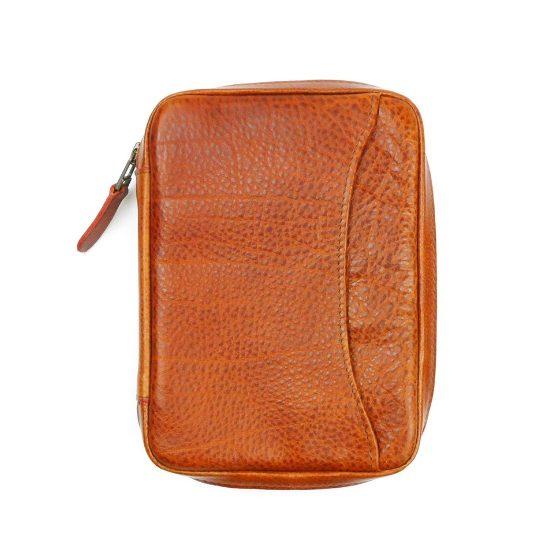 Peter James Chilli Leather Robusto Cigar Aficionado Case