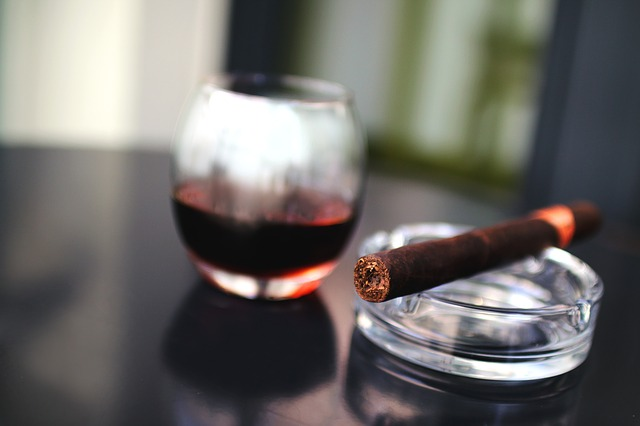 Cigar on ashtray | buy cigars online of the highest quality from Havana House