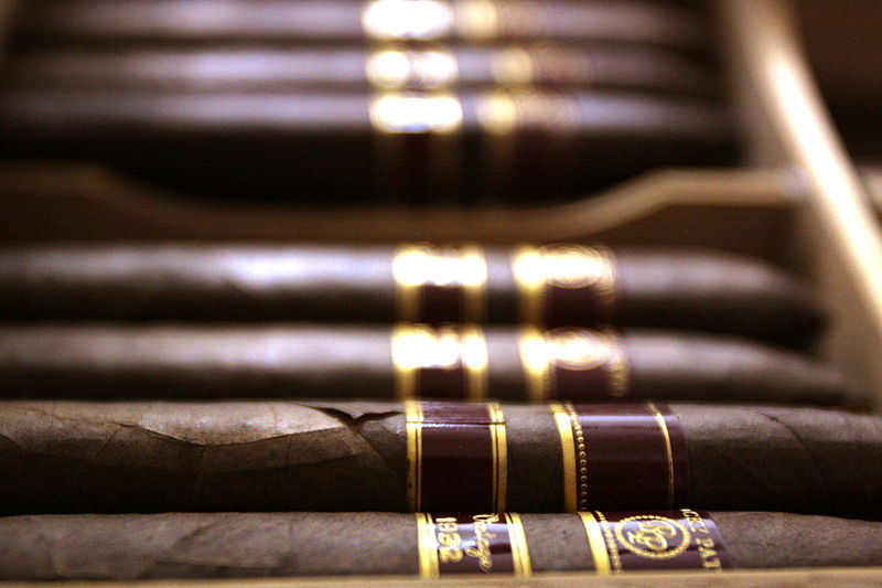 A row of cigars online available from Havana House
