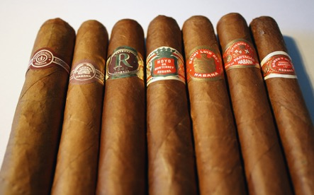 A collection of fine cigars from Havana House