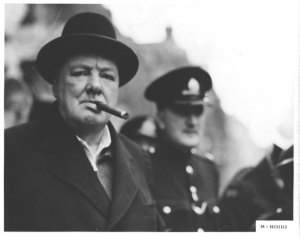 Churchill smoking a cigar