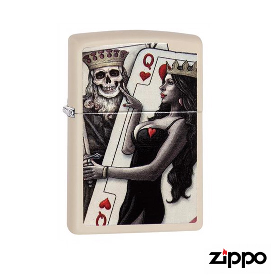 Zippo Skull, King, Queen Beauty Soft Flame Lighter