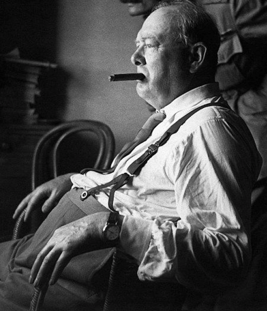 Winston Churchill thinking.