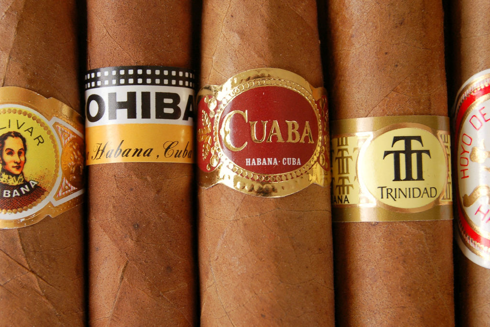 A selection of Cuban Cigars