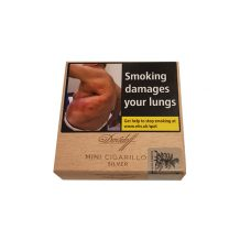 Davidoff Mini Cigarillos Silver Wooden Box of 50