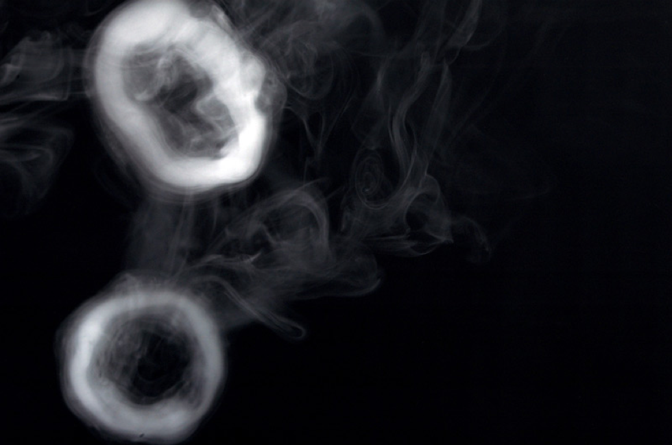 Smoke rings from cigars