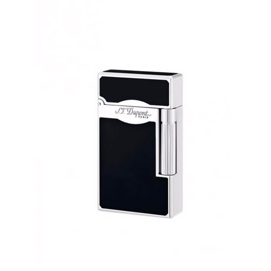 S.T. Dupont Le Grand Black Lacquer and Palladium Lighter