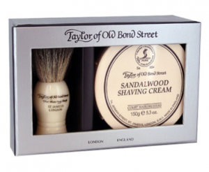 Taylor pure badger and sandalwood shaving cream gift box