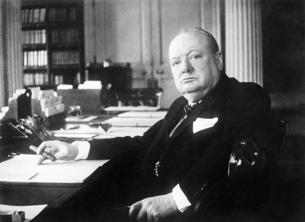 Winston Churchill smoking Romeo and Juliet Cigars
