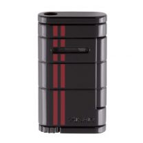 Xikar Allume Single Jet Flame Racing Cigar Lighter - Black/Red Stripe