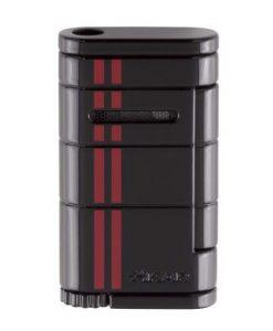 Xikar Allume Single Jet Flame Racing Cigar Lighter - Black/Red Stripe
