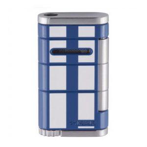 Xikar Allume Single Jet Flame Racing Cigar Lighter - Blue/White Stripe