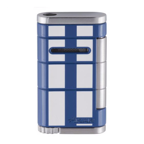 Xikar Allume Single Jet Flame Racing Cigar Lighter - Blue/White Stripe
