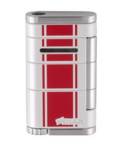 Xikar Allume Single Jet Flame Racing Cigar Lighter - Red Stripe