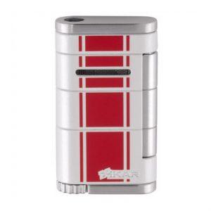 Xikar Allume Single Jet Flame Racing Cigar Lighter - Red Stripe