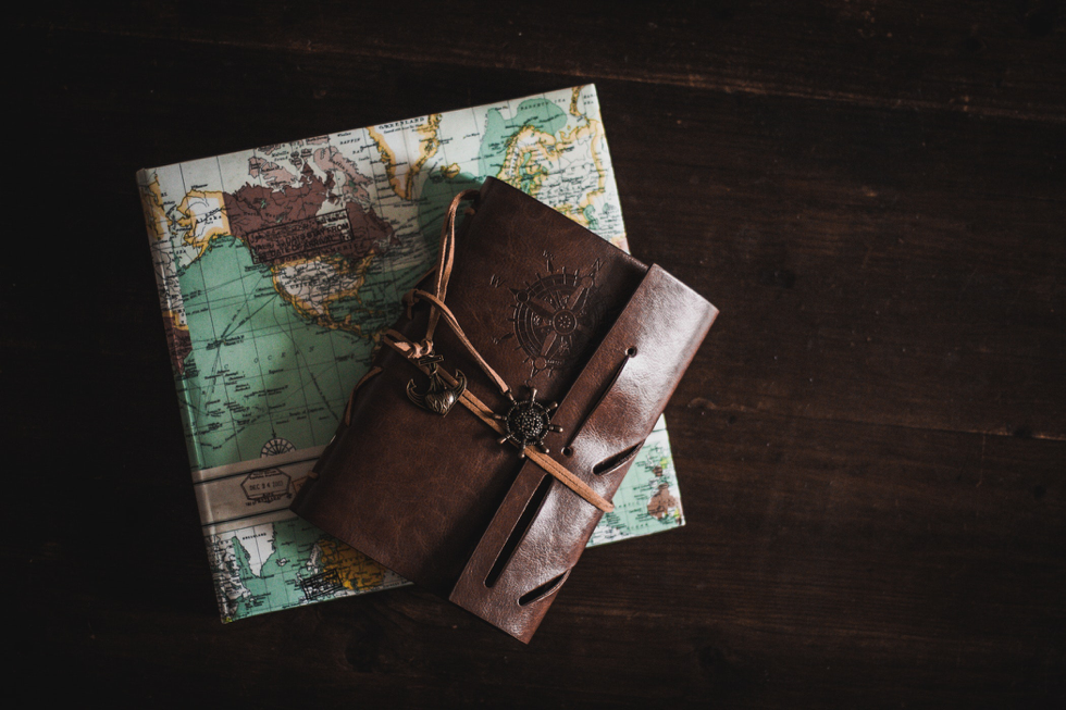 A leather-bound journal