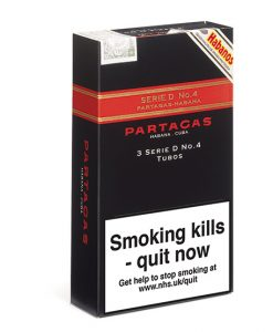 Partagas Series D No.4 Cigar - Pack of 3 Tubos