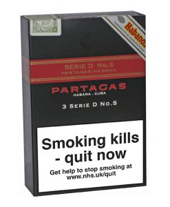Partagas Series D No.5 Cigar - Pack of 3 Tubos
