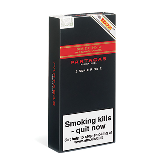 Partagas Series P No.2 Cigar - Pack of 3 Tubos
