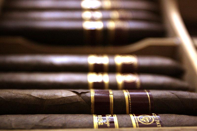 cigars in a humidor at Havana House