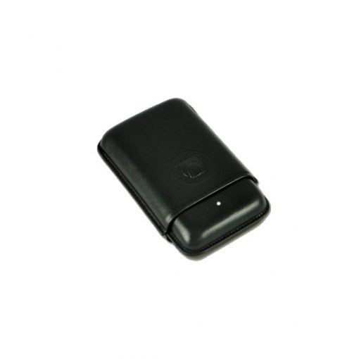 Dunhill Bulldog Black Cigar Case - 3 Robusto