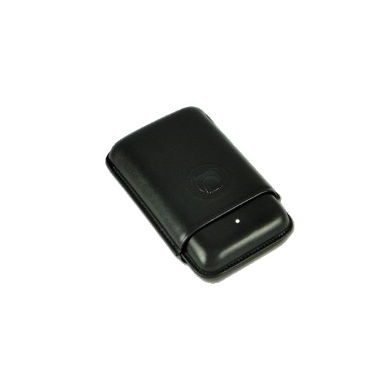 Dunhill Bulldog Black Cigar Case - 3 Robusto