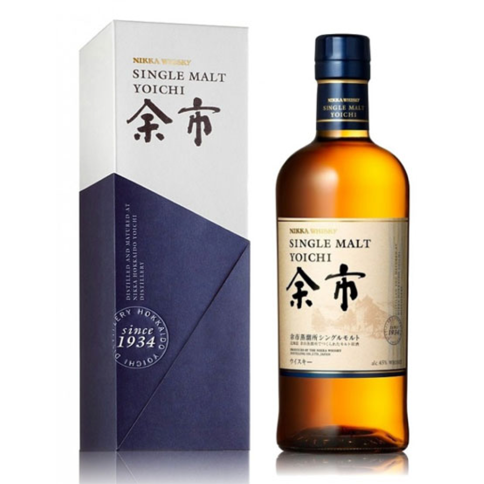 Single Malt Yoichi Bottle and case