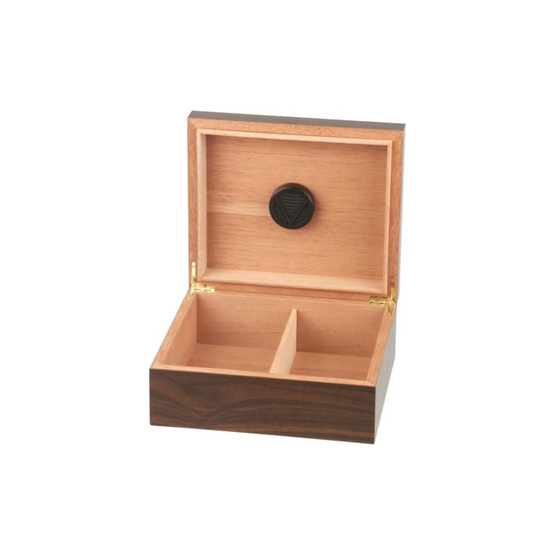 Walnut Cigar Humidor for 25 Cigars