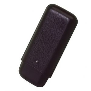 White Spot Black Cigar Case- 3 Corona Extra
