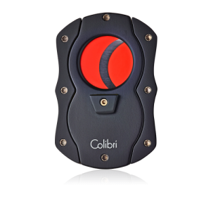 Colibri Cut Cigar Cutter-Black With Red Blades