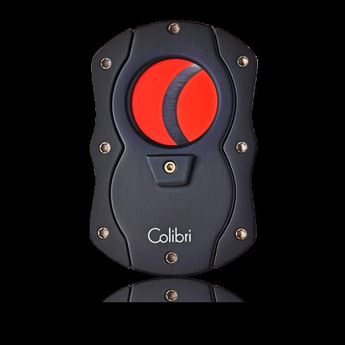 Colibri Cut Cigar Cutter-Black With Red Blades