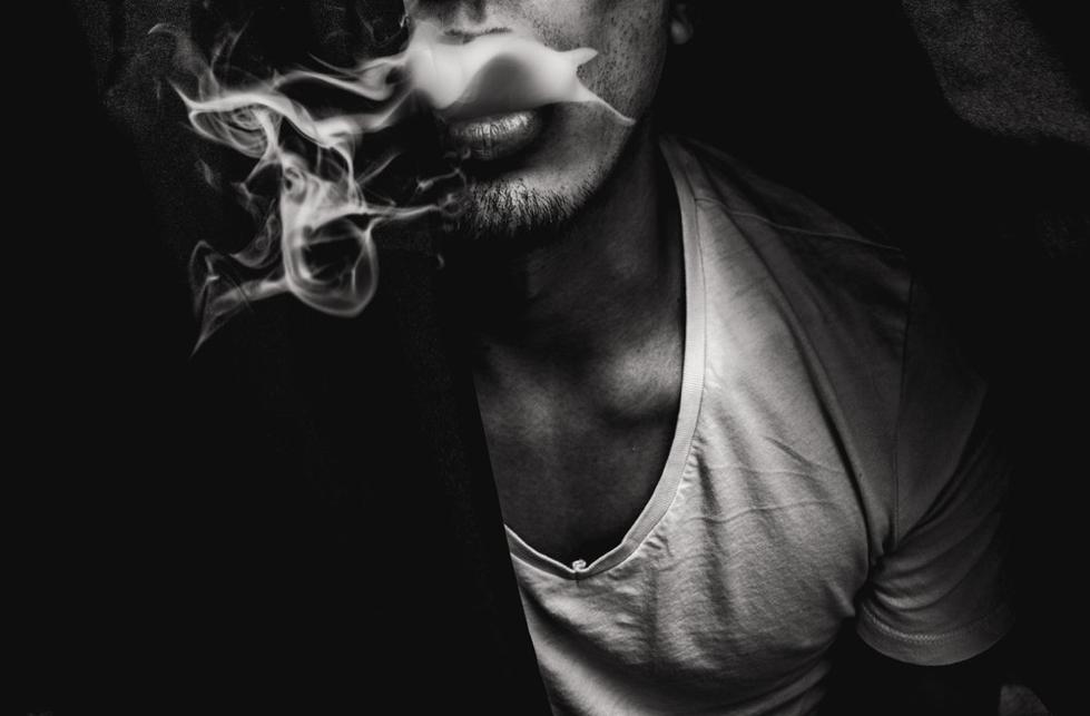 Man smoking Dokha