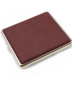 Cigarette Case Leather Burgundy King Size