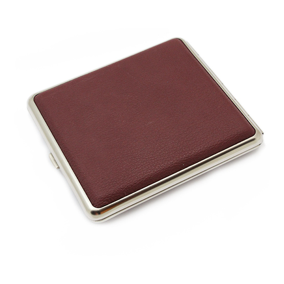 Cigarette Case Leather Burgundy King Size